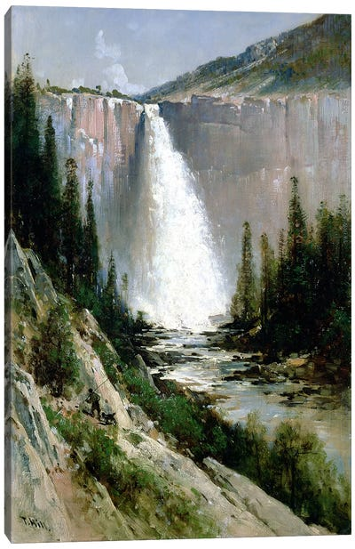 Bridal Veil Falls, Yosemite  Canvas Art Print