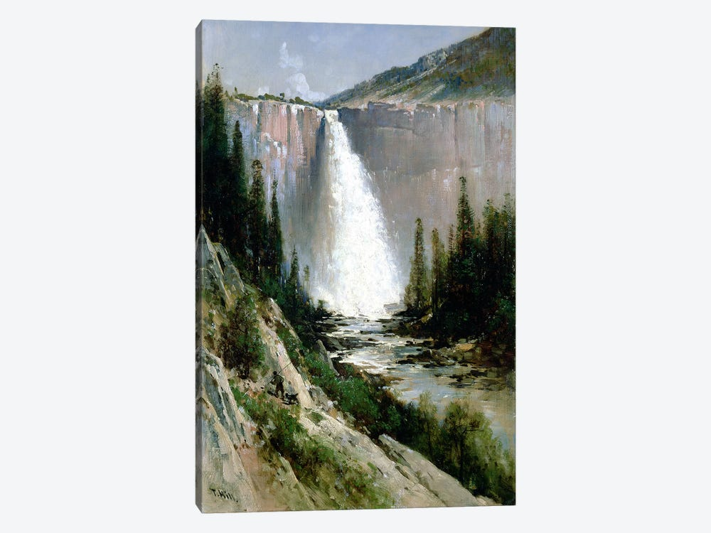 Bridal Veil Falls, Yosemite  by Thomas Hill 1-piece Canvas Wall Art