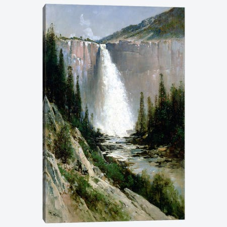 Bridal Veil Falls, Yosemite  Canvas Print #BMN4670} by Thomas Hill Canvas Art Print