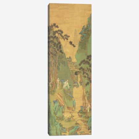 A Scholar Listening to a Waterfall  Canvas Print #BMN4672} by Li Shizuo Canvas Print