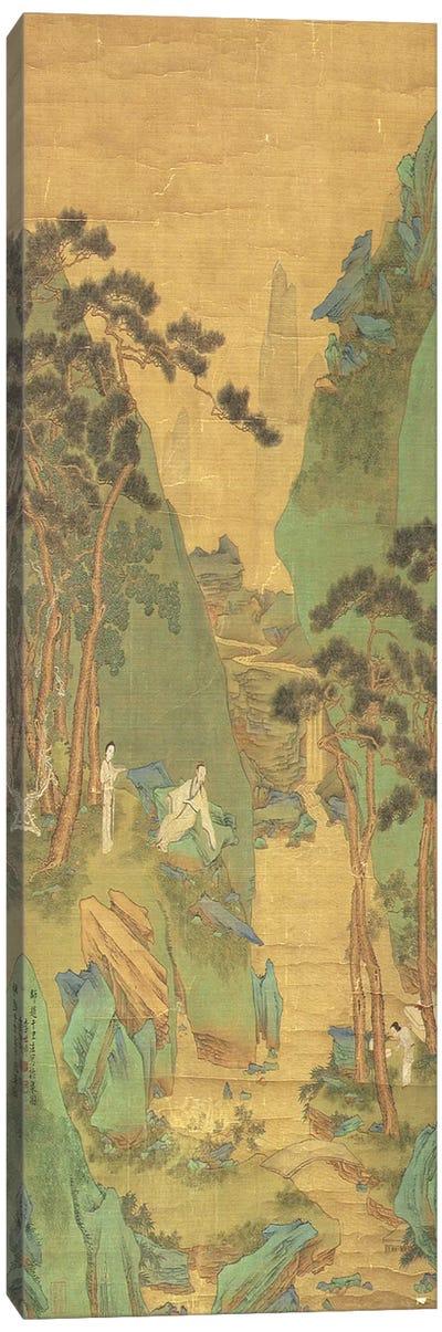 A Scholar Listening to a Waterfall  Canvas Art Print