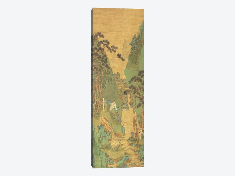 A Scholar Listening to a Waterfall  by Li Shizuo 1-piece Canvas Wall Art