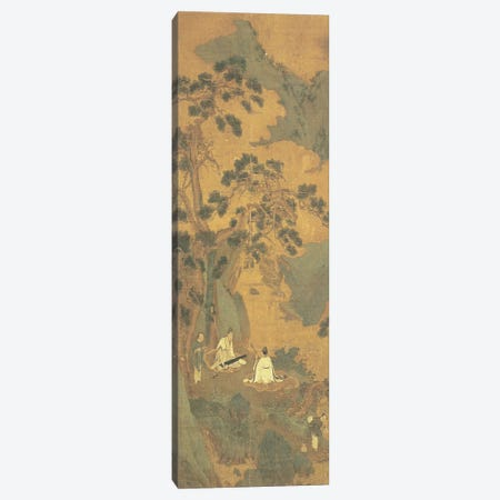 Two Scholars playing the Qin and Erhu under a Pine Tree  Canvas Print #BMN4673} by Qiu Ying Canvas Print
