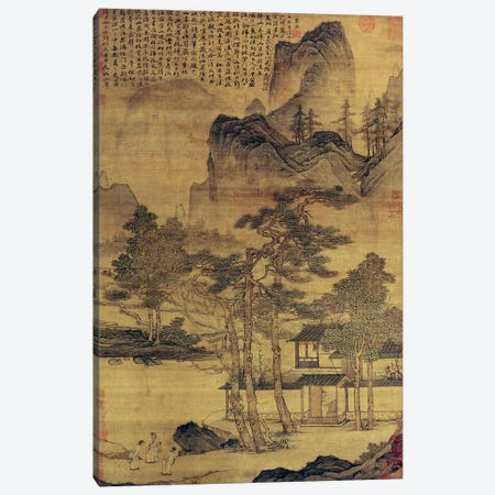 Scenes of Hermits' Long Days in the Quiet Mountains  Canvas Print #BMN4674} by Tang Yin Canvas Wall Art