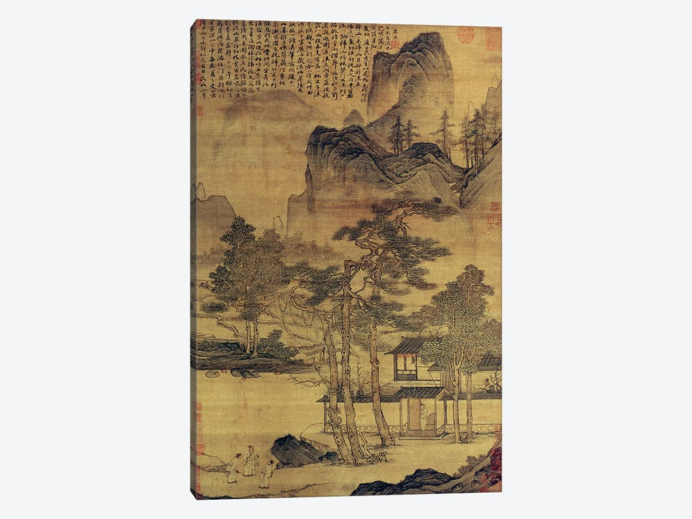 Scenes of Hermits' Long Days in the Quiet Mountains  by Tang Yin 1-piece Canvas Artwork