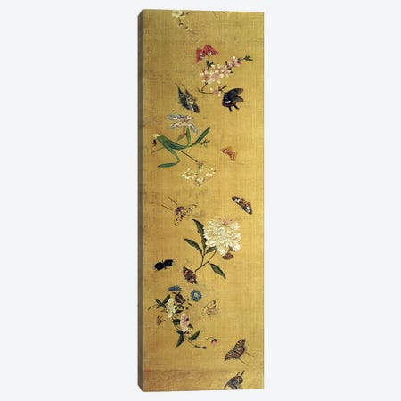 One Hundred Butterflies, Flowers and Insects, detail from a handscroll  Canvas Print #BMN4675} by Chen Hongshou Canvas Artwork