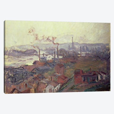 General View of Rouen from St. Catherine's Bank, c.1892  Canvas Print #BMN4677} by Claude Monet Canvas Wall Art