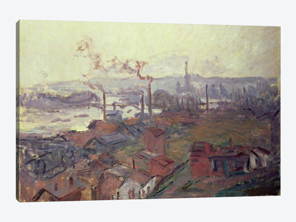 General View of Rouen from St. Catherine's Bank, c.1892  by Claude Monet 1-piece Canvas Print
