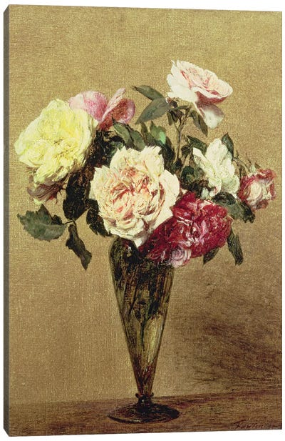Roses in a Vase, 1892  Canvas Art Print