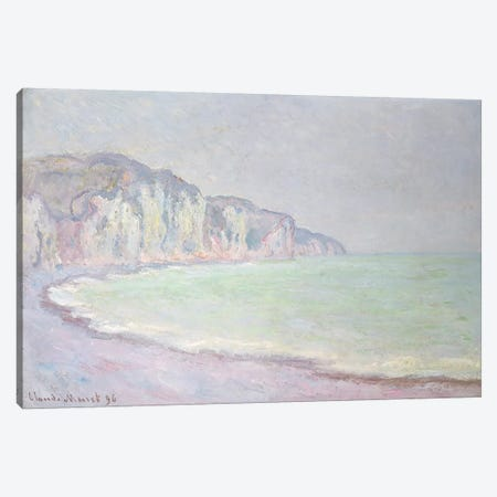 Cliffs at Pourville, 1896  Canvas Print #BMN4679} by Claude Monet Canvas Art Print