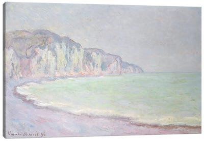 Cliffs at Pourville, 1896 Canvas Art Print