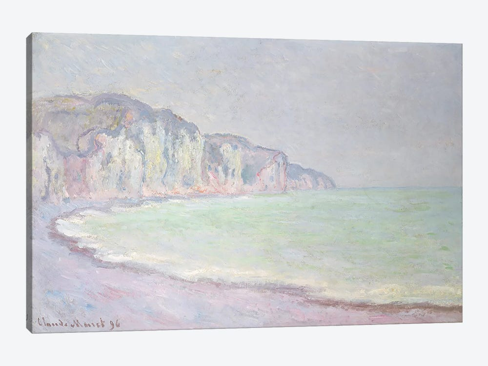 Cliffs at Pourville, 1896  by Claude Monet 1-piece Canvas Print