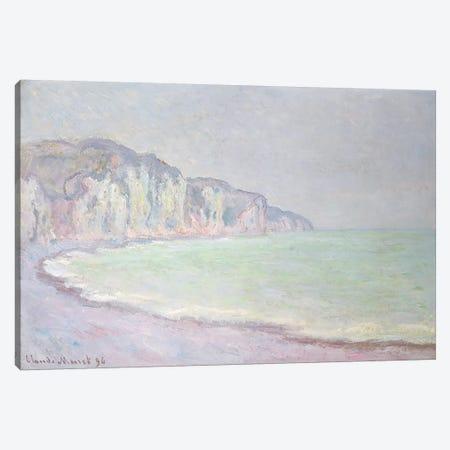 Cliffs at Pourville, 1896  Canvas Print #BMN4679} by Claude Monet Canvas Art Print
