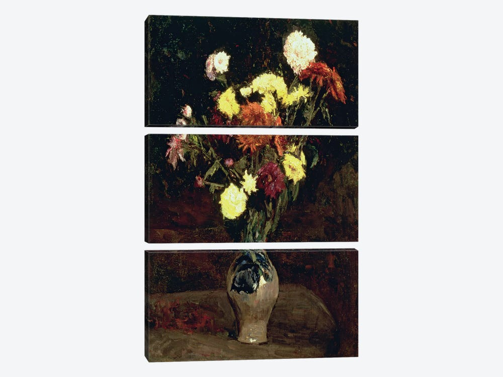 Still Life of Flowers  by Vincent van Gogh 3-piece Canvas Wall Art