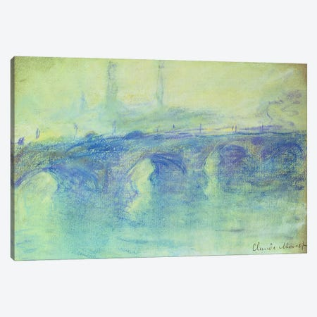 Waterloo Bridge, c.1899  Canvas Print #BMN4682} by Claude Monet Canvas Art