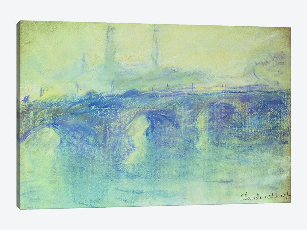 Waterloo Bridge, c.1899 1-piece Canvas Print