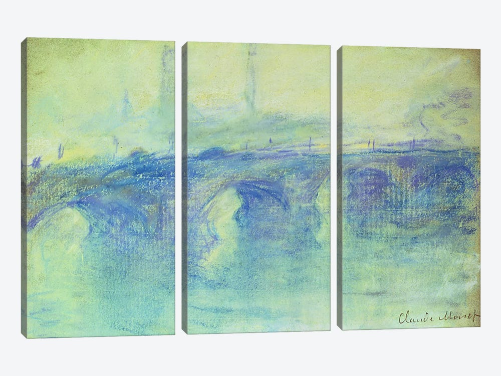 Waterloo Bridge, c.1899 by Claude Monet 3-piece Art Print