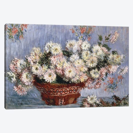 Chrysanthemums, 1878  Canvas Print #BMN4685} by Claude Monet Canvas Print
