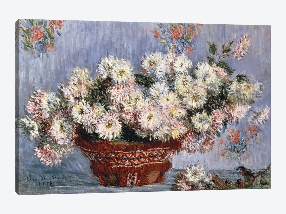 Chrysanthemums, 1878  by Claude Monet 1-piece Canvas Art