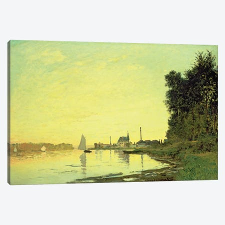 Argenteuil, at the End of the Afternoon, 1872  Canvas Print #BMN4686} by Claude Monet Art Print
