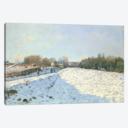 Effect of Snow at Argenteuil, 1874  3-Piece Canvas #BMN4687} by Alfred Sisley Canvas Art Print