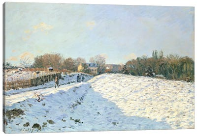Effect of Snow at Argenteuil, 1874  Canvas Art Print