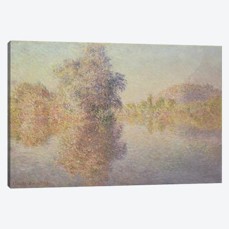 Morning on the Seine at Giverny, 1893  Canvas Print #BMN4688} by Claude Monet Canvas Wall Art