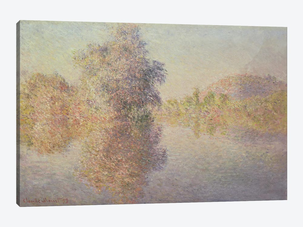 Morning on the Seine at Giverny, 1893  by Claude Monet 1-piece Canvas Print