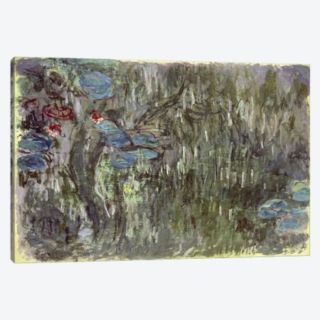 Waterlilies with Reflections of Willows, c.1920  Canvas Print #BMN4689} by Claude Monet Canvas Art