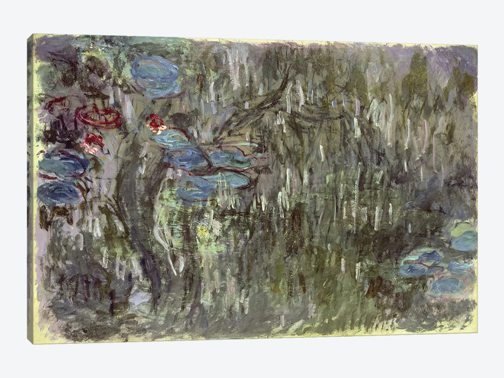 Waterlilies with Reflections of Willows, c.1920  by Claude Monet 1-piece Canvas Wall Art