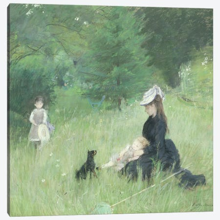 In a Park, c.1874  Canvas Print #BMN468} by Berthe Morisot Canvas Art