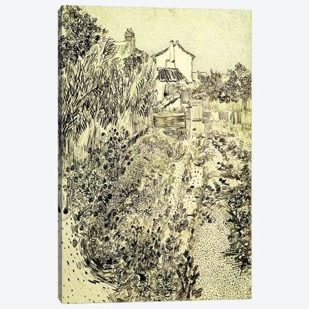 Garden of Flowers, 1888  Canvas Print #BMN4690} by Vincent van Gogh Canvas Art Print