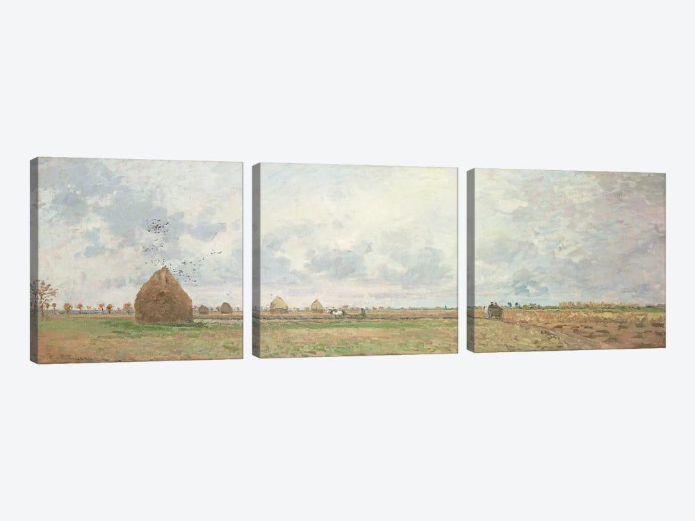 Four Seasons, Autumn, 1872   by Camille Pissarro 3-piece Canvas Art Print