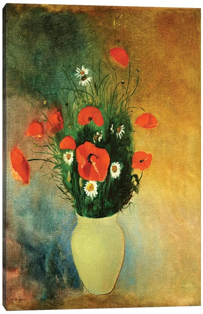 Poppies and Daisies, c.1913  Canvas Art Print