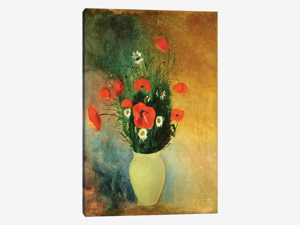 Poppies and Daisies, c.1913  by Odilon Redon 1-piece Art Print