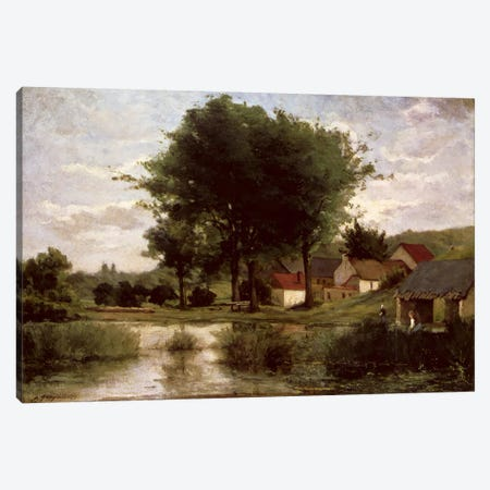 Autumn Landscape, 1877  Canvas Print #BMN4697} by Paul Gauguin Canvas Wall Art