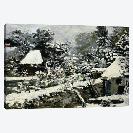 Landscape, Snow Effect, c.1868  Canvas Print #BMN4699} by Pierre-Auguste Renoir Canvas Print