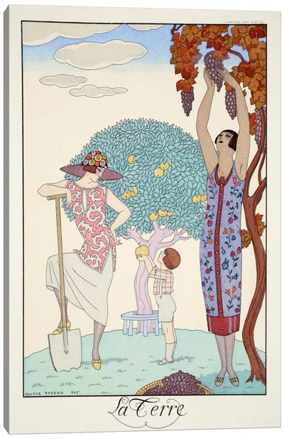 Earth, from 'Falbalas & Fanfreluches, Almanach des Modes Présentes Canvas Art Print