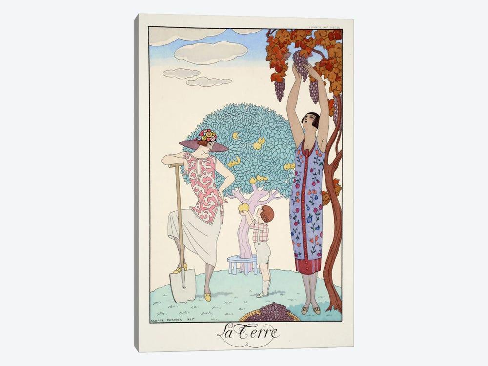 Earth, from 'Falbalas & Fanfreluches, Almanach des Modes Présentes by George Barbier 1-piece Canvas Artwork