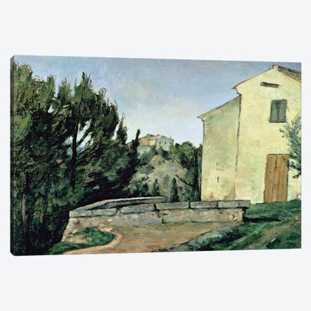 The Abandoned House at Tholonet  Canvas Print #BMN4700} by Paul Cezanne Canvas Art Print