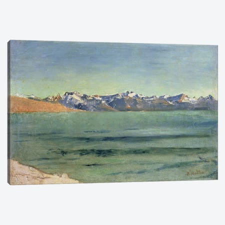 Sunrise Over Mont Blanc, c.1890  Canvas Print #BMN4703} by Ferdinand Hodler Canvas Print