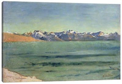 Sunrise Over Mont Blanc, c.1890  Canvas Art Print