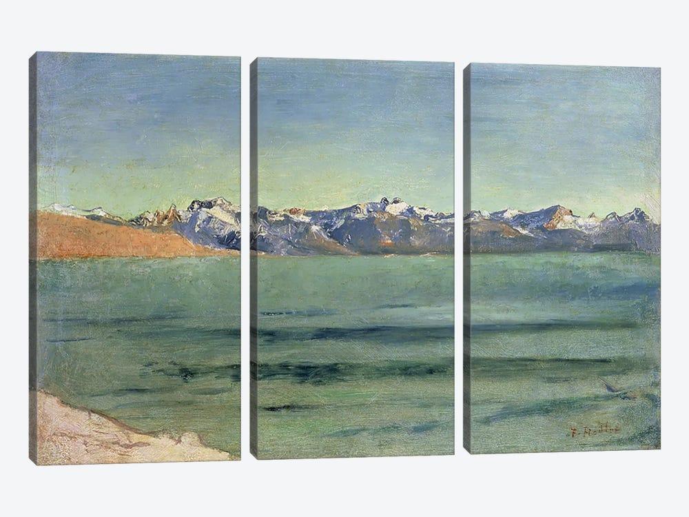 Sunrise Over Mont Blanc, c.1890  by Ferdinand Hodler 3-piece Canvas Print