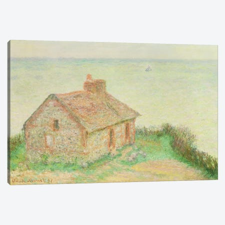 The House at Douanier, Pink Effect, 1897  Canvas Print #BMN4705} by Claude Monet Canvas Wall Art