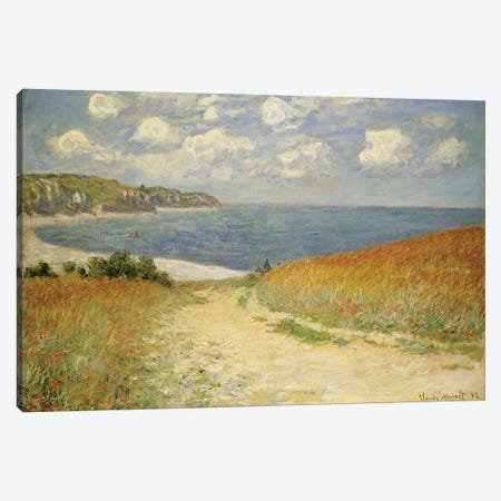 Path in the Wheat at Pourville, 1882  Canvas Print #BMN4710} by Claude Monet Canvas Artwork