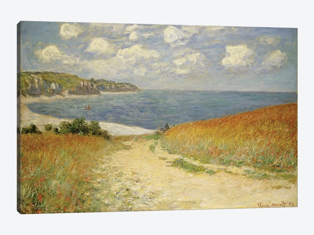 Path in the Wheat at Pourville, 1882 by Claude Monet 1-piece Art Print