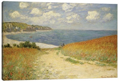 Path in the Wheat at Pourville, 1882  Canvas Art Print
