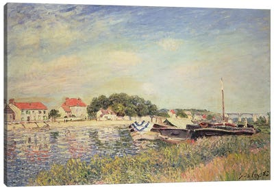 The Banks of the Loing at Saint-Mammes, 1885  Canvas Art Print