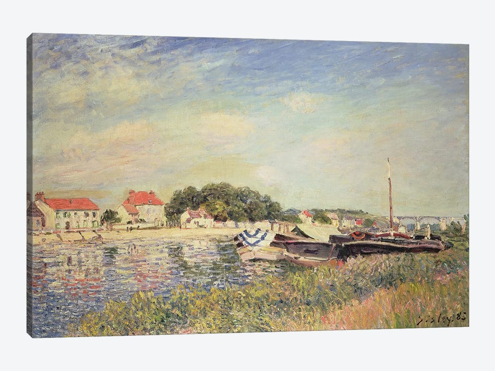 The Banks of the Loing at Saint-Mammes, 1885  by Alfred Sisley 1-piece Canvas Art
