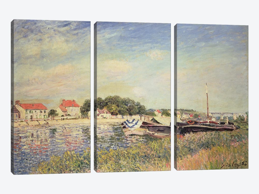 The Banks of the Loing at Saint-Mammes, 1885  by Alfred Sisley 3-piece Canvas Wall Art